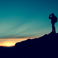 man standing on a Mountain
